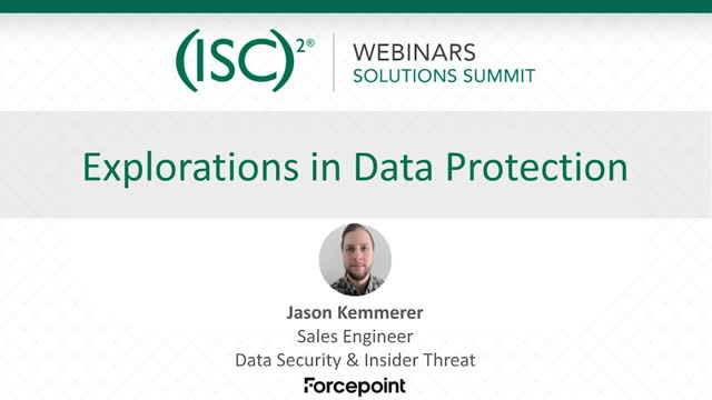August 2020 Summit #2: Explorations in Data Protection