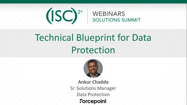 August 2020 Summit #3: Technical Blue Print for Data Protection