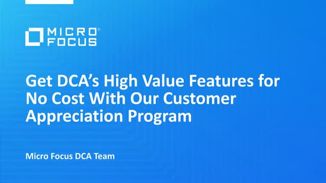 Get DCA's High Value Features for No Cost With Our Customer Appreciation Program