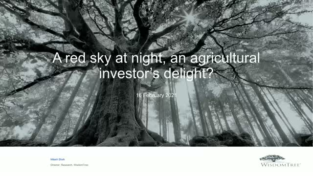 Commodities Series Part ii: A red sky at night, a commodity trader's delight?