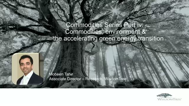 Commodities Series Pt iv: Commodities, environment & the green energy transition