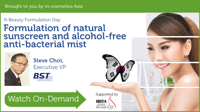 Formulation of natural sunscreen and alcohol-free anti-bacterial mist