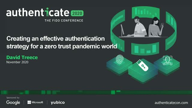Creating an effective authentication strategy for a zero trust pandemic world