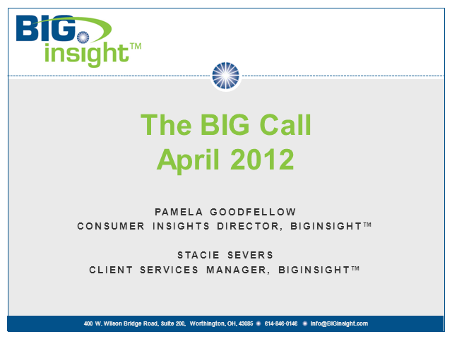 BIG Call - April 2012