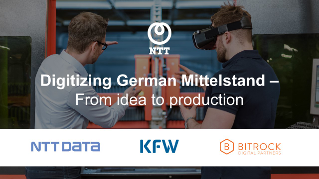 Digitizing German Mittelstand - From idea to production