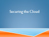 Securing the Cloud - Best Practices from Private to Public