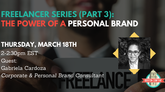 Freelancer Series, Pt.3: The power of a personal brand