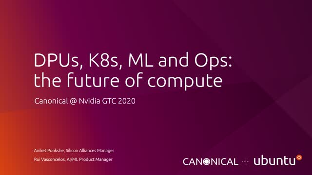 DPUs, K8s, ML & Ops: The future of compute