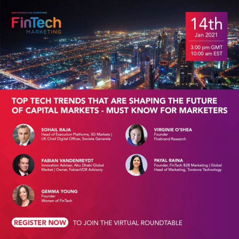 SHAPING THE FUTURE OF CAPITAL MARKETS – FOR. FINTECH MARKETERS