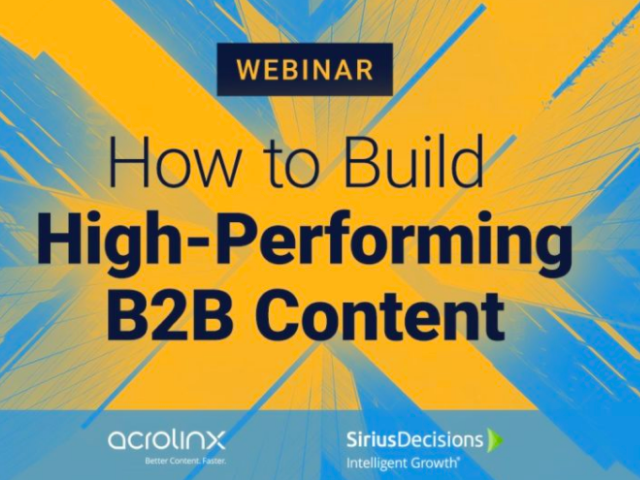 How to Build High Performance B2B Content