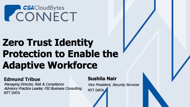 Zero Trust Identity Protection to enable the adaptive workforce