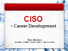 CISO Career Development Series
