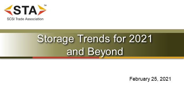 Storage Trends for 2021 and Beyond