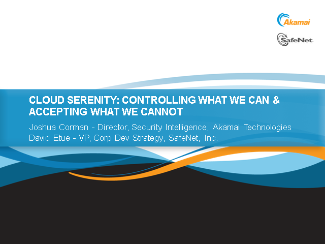 Cloud Serenity: Controlling What We Can and Accepting What We Cannot