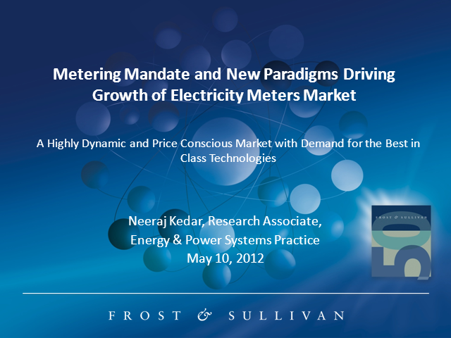 Metering Mandate and New Paradigms Driving Growth of Indian Electricity Meters M