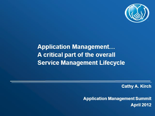 Application Management As Part of The Overall Service Management Lifecycle