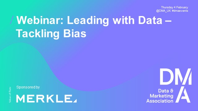 Webinar: Leading with Data - Tackling Bias