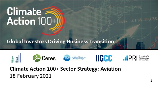 CA100+ Aviation Sector Strategy: How Investors Can Push for Net Zero Aviation