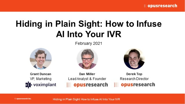 Hiding in Plain Sight: How to Infuse AI Into Your IVR