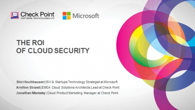 The ROI of Cloud Security with Microsoft and Check Point