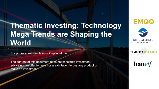 Thematic Investing: Technology Mega Trends are Shaping the World