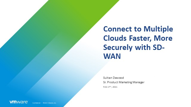 Connect to Multiple Clouds Faster, More Securely with SD-WAN