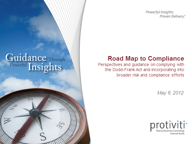 A Roadmap To Compliance