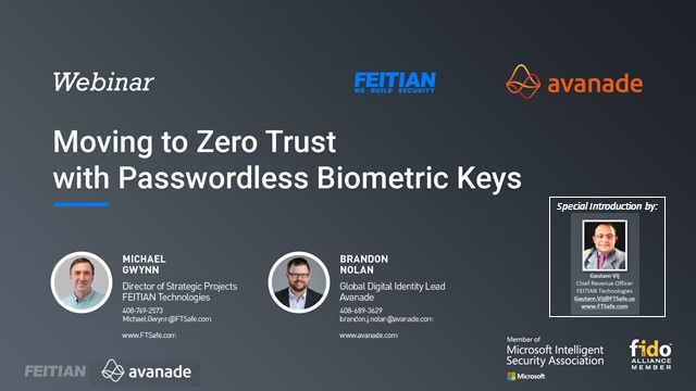 Moving to Zero Trust with Passwordless Biometric Keys - North America Audience