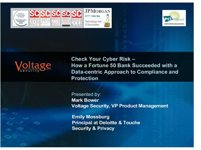 Reducing PCI scope and cyber risk - at the same time