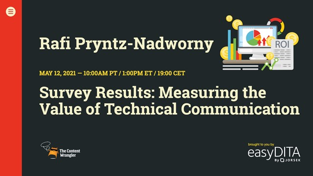 Survey Results: Measuring the Value of Technical Communications
