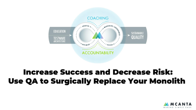 Increase Success and Decrease Risk: Use QA to Surgically Replace Your Monolith