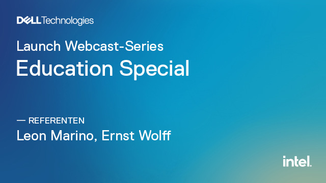Launch Webcast-Series: Education Special