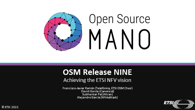 OSM Release NINE – Achieving the ETSI NFV vision