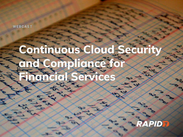 [APAC] Continuous Cloud Security and Compliance for Financial Services