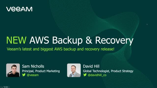 NEW AWS Backup & Recovery release
