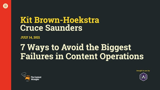 7 Ways to Avoid the Biggest Failures in Content Operations