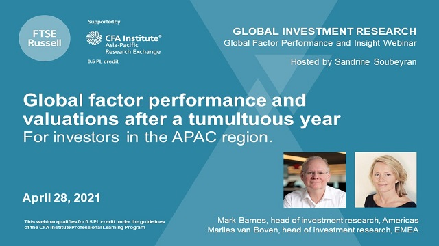 Factor performance and valuations after a turbulent year. For investors in APAC