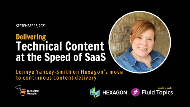 Delivering Technical Content at the Speed of SaaS