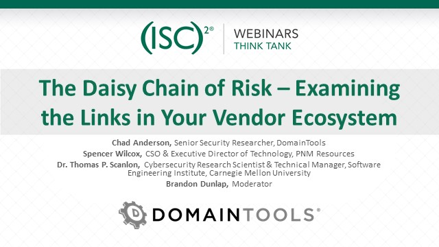 The Daisy Chain of Risk – Examining the Links in Your Vendor Ecosystem