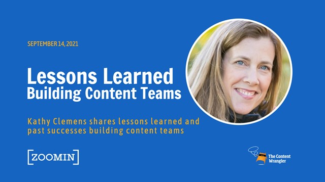 Lessons Learned Building Content Teams