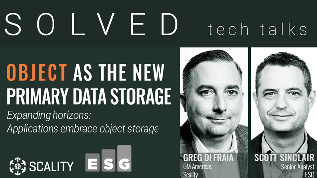 Expanding horizons: Applications embrace object as the new primary data storage