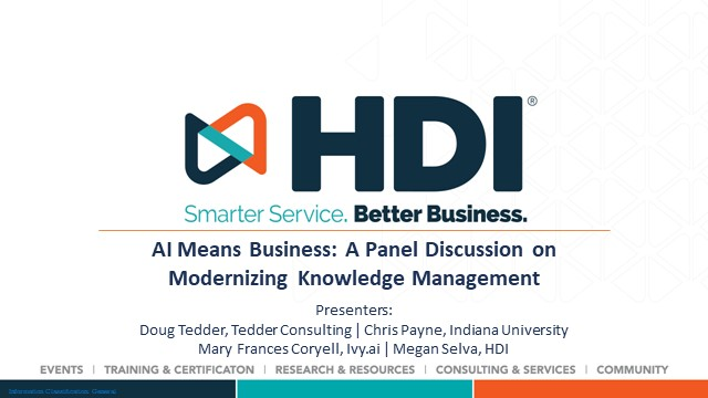 AI Means Business: A Panel Discussion on Modernizing Knowledge Management