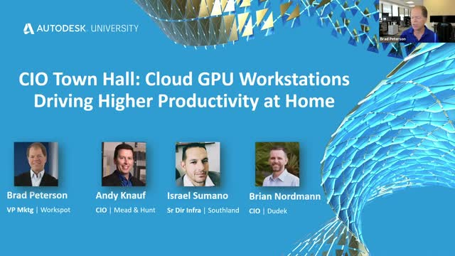 CIO Town Hall: Cloud GPU Workstations Driving Higher Productivity at Home