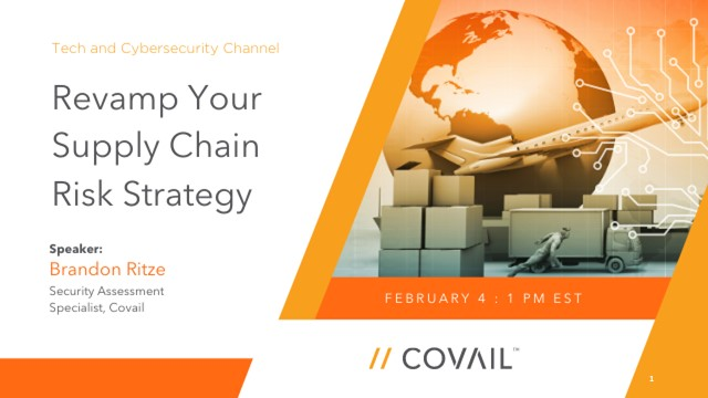 Revamp Your Supply Chain Risk Strategy