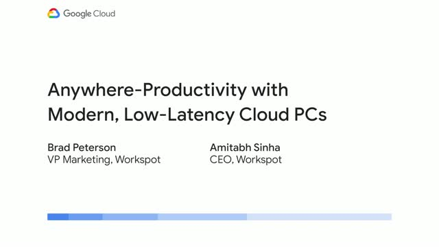 Anywhere productivity with modern, low latency cloud desktops