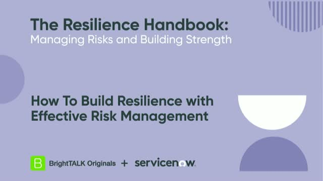 How To Build Resilience with Effective Risk Management