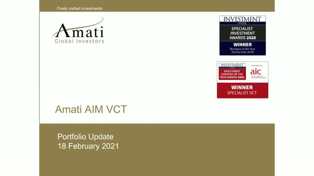 Amati AIM VCT Portfolio Update