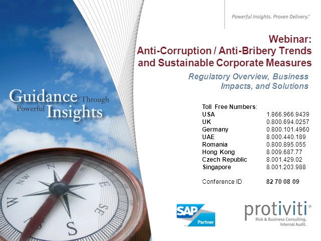 Hot Topic: Anti-Corruption/Anti-Bribery Trends & Sustainable Corporate Measures