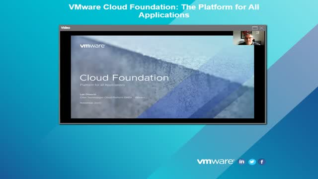 VMware Cloud Foundation: The Platform for All Applications