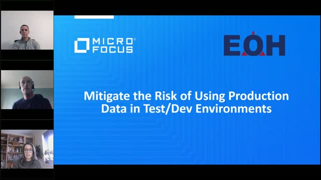 Mitigate the Risk of Using Production Data in Test/Dev Environments